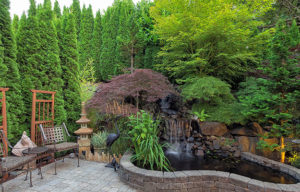 Beautify your dream home with backyard waterfall
