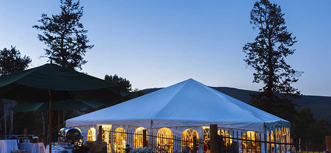 Get a clear view about the rental packages of party tents